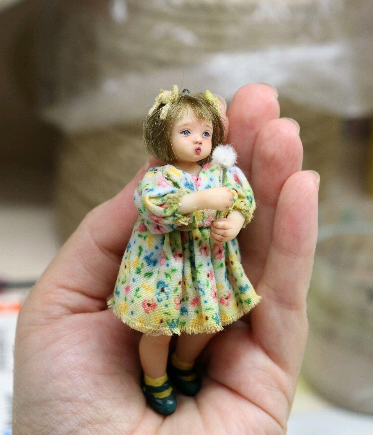 Ёлочная игрушка кукла подвеска 8,5 см, Куклы и пупсы, Подольск,  Фото №1
