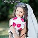 """Свадебные цветы ручной работы. Брошь - букет (brooch) для невесты """"Фуксия"""". Pour Moi (olgagorbacheva). Ярмарка Мастеров. Букет из ткани"""