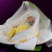 Куклы и игрушки handmade. Livemaster - original item A cradle for a doll Lotus. Handmade.