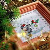 Сувениры и подарки handmade. Livemaster - original item Mouse and cardinal. Handmade.