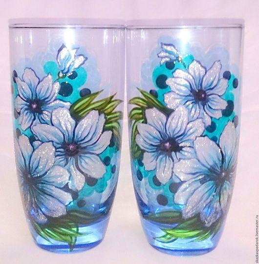 Бокалы, стаканы ручной работы. стаканы
