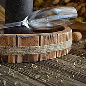Для дома и интерьера ручной работы. Ярмарка Мастеров - ручная работа «Ветры в полыни» Поднос из массива сосны. Handmade.