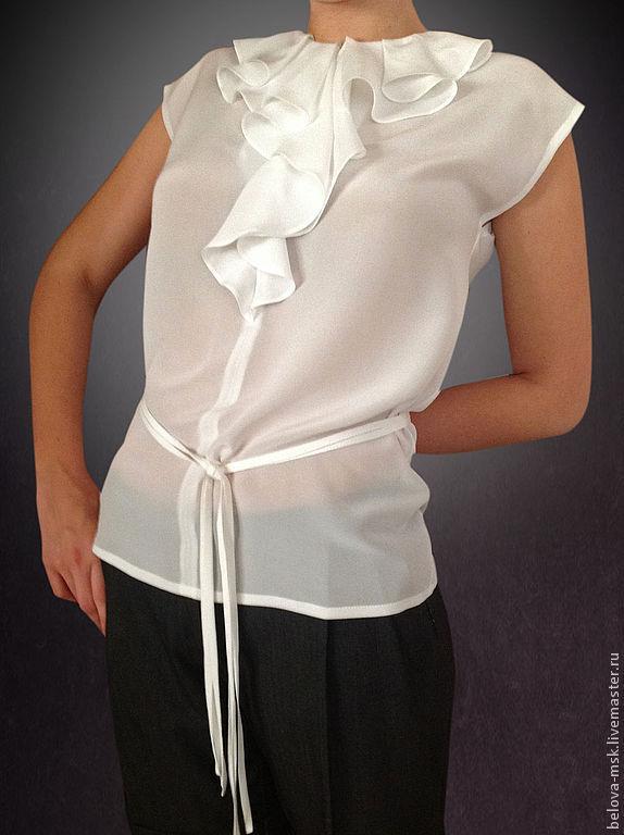 Купить белую шелковую блузку в интернет магазине