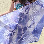 Шарфы ручной работы. Ярмарка Мастеров - ручная работа Джинсовый,хб шарф,ручная роспись170х80 см. Handmade.