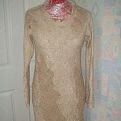 Одежда handmade. Livemaster - original item Wool dress Latte. Handmade.