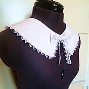 Аксессуары handmade. Livemaster - original item Removable collar perfect c ,with a bow - brooch. Handmade.