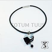 Necklace handmade. Livemaster - original item Necklace on a leather cord Art:18000101. Handmade.