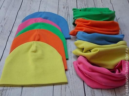 Детские аксессуары ручной работы. Ярмарка Мастеров - ручная работа. Купить Детский комплект шапка+снуд. Handmade. Комбинированный, шапка тонкая