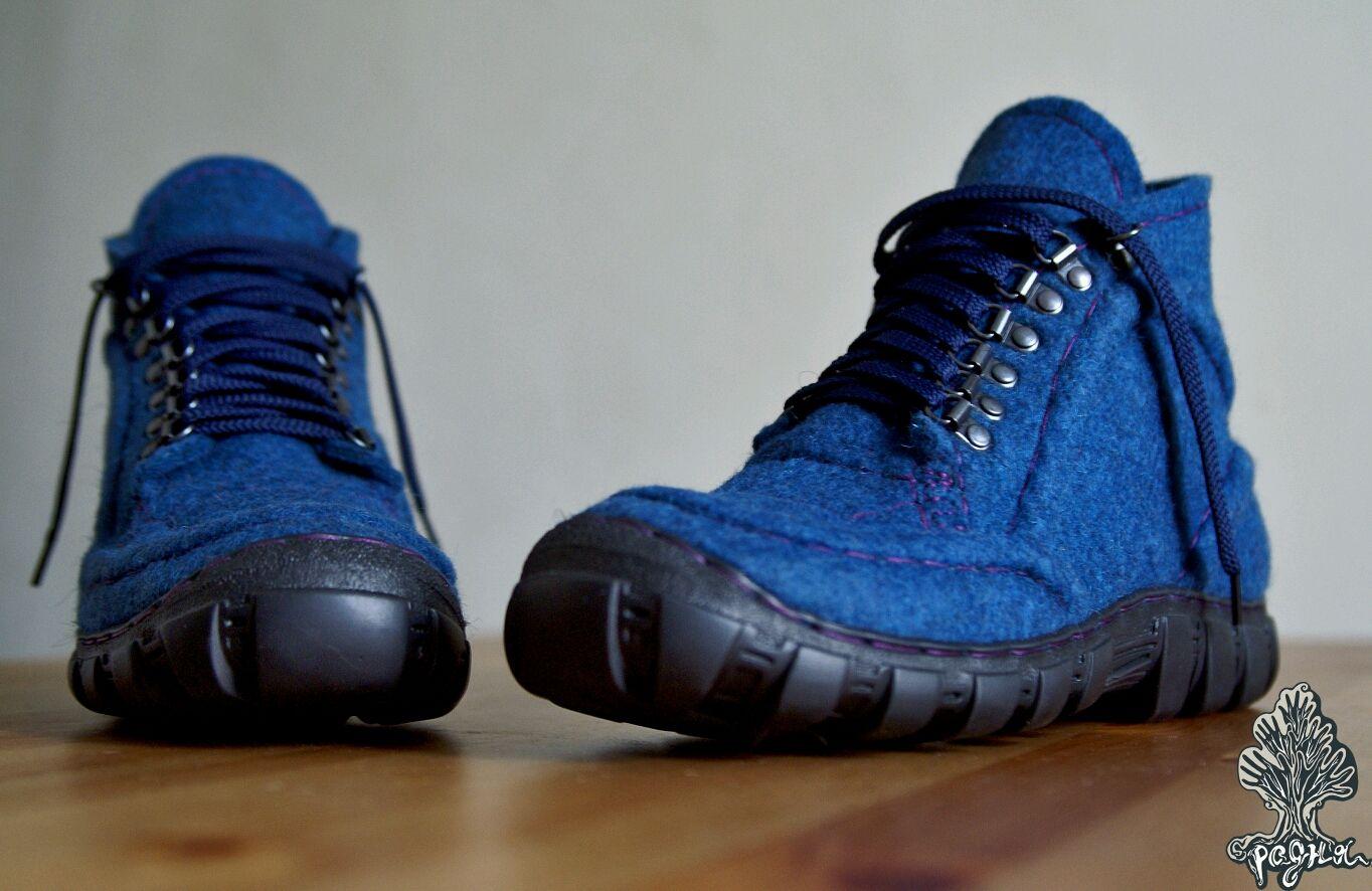 Мужские ботинки синего цвета, Ботинки, Москва,  Фото №1