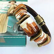 """Украшения ручной работы. Ярмарка Мастеров - ручная работа Браслет """"Три шоколада"""" в стиле регализ (лэмпворк). Handmade."""