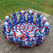 Для дома и интерьера ручной работы. Ярмарка Мастеров - ручная работа Текстильная корзинка из кукол Хоровод. Handmade.