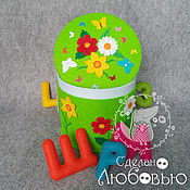 Куклы и игрушки handmade. Livemaster - original item alphabet out of felt in the box