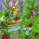 Детская ручной работы. Ярмарка Мастеров - ручная работа. Купить Принт Плюшевый заяц. Авторская картина в детскую. Handmade.
