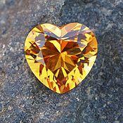 Материалы для творчества handmade. Livemaster - original item Citrine Madeira Heart. Handmade.