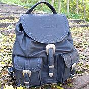 Сумки и аксессуары handmade. Livemaster - original item Men`s leather backpack «Nocturne». Handmade.