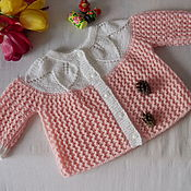 Работы для детей, handmade. Livemaster - original item Sweater knitted for girls 6-9 months. Handmade.