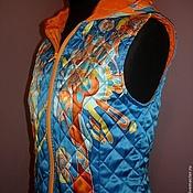 Одежда handmade. Livemaster - original item Vest quilted batik