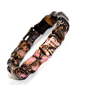 Украшения handmade. Livemaster - original item Bracelet made of natural stone rhodonite. Handmade.