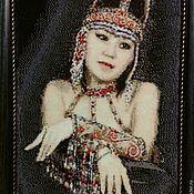 Картины и панно handmade. Livemaster - original item Tapestry beaded SINILGA(portrait photography). Handmade.