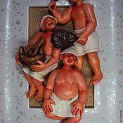 """Картины и панно ручной работы. Ярмарка Мастеров - ручная работа """"Банный день""""-5. Handmade."""