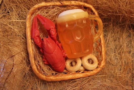 """Мыло ручной работы. Ярмарка Мастеров - ручная работа. Купить Набор мыла""""Пиво, раки..."""". Handmade. Пивная кружка"""