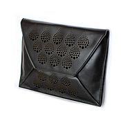 Сумки и аксессуары ручной работы. Ярмарка Мастеров - ручная работа Черный клатч, кожаный клатч, кожаная сумка черная, черная сумочка. Handmade.