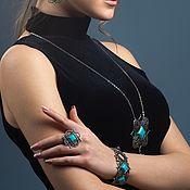 Украшения handmade. Livemaster - original item Nicaea bracelet with turquoise. Handmade.