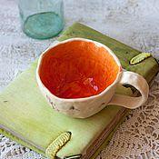 Посуда ручной работы. Ярмарка Мастеров - ручная работа Кружка керамика Птичьи радости. Handmade.