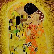 """Картины и панно ручной работы. Ярмарка Мастеров - ручная работа Панно """" Поцелуй"""" по мотивам Густава Климта. Handmade."""