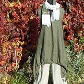 Одежда handmade. Livemaster - original item No. №036 Linen sundress tunic. Handmade.