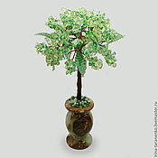 Цветы и флористика handmade. Livemaster - original item The tree of life quartz in a vase of onyx. Handmade.