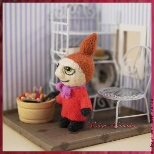 Сказочные персонажи ручной работы. Ярмарка Мастеров - ручная работа. Купить Малышка Мю (игрушка из войлока, войлочная игрушка). Handmade.