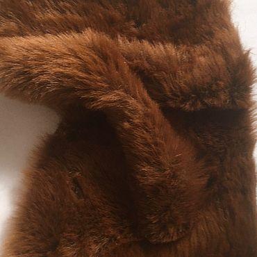 Материалы для творчества ручной работы. Ярмарка Мастеров - ручная работа Мех искусственный длинноворсовый коричневый ворс 27. Handmade.