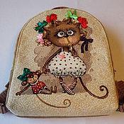 """Работы для детей, ручной работы. Ярмарка Мастеров - ручная работа Рюкзак детский для девочки """"Обезьянка"""" гобелен. Handmade."""