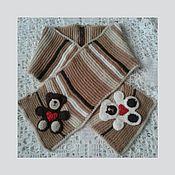 Работы для детей, ручной работы. Ярмарка Мастеров - ручная работа Детский вязаный шарф с аппликациями. Handmade.