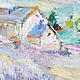 """Пейзаж ручной работы. РЕПРОДУКЦИЯ """"Лавандовый рассвет в Легро """" 30/40 см. ЖИВОПИСЬ ПОЗИТИВ (paintingjoy). Ярмарка Мастеров."""