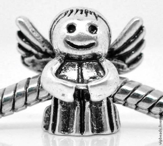 """Для украшений ручной работы. Ярмарка Мастеров - ручная работа. Купить Шарм """"Ангел"""" в стиле Пандора. Handmade. Серебряный, пандора"""
