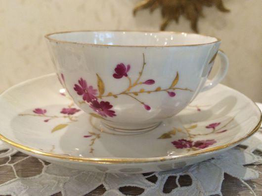 Винтажная посуда. Ярмарка Мастеров - ручная работа. Купить Чайная пара, ЛФЗ, 60е. Handmade. Комбинированный, подарок