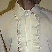 Одежда handmade. Livemaster - original item Mens shirt with jabot. Handmade.