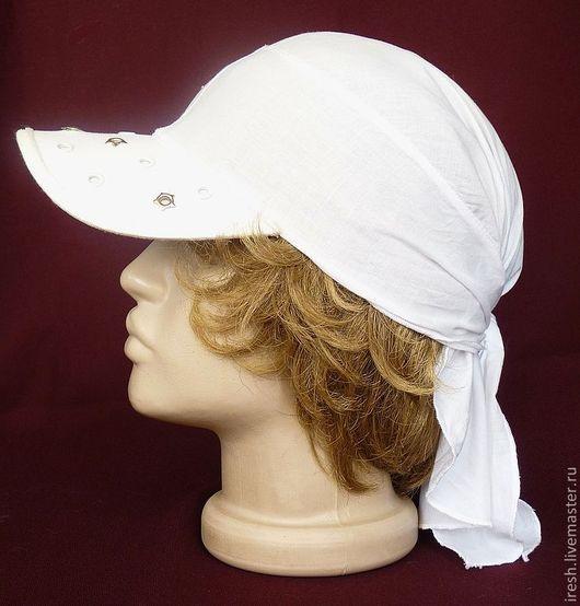 """Банданы ручной работы. Ярмарка Мастеров - ручная работа. Купить Белая бандана """"Свежесть"""". Handmade. Белый, белая кепка"""