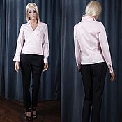 Одежда handmade. Livemaster - original item Pink blouse in the Japanese style with the smell. Handmade.
