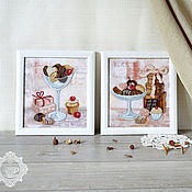 Картины и панно handmade. Livemaster - original item Pictures of beads Sweet Duo. Handmade.