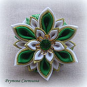 Работы для детей, handmade. Livemaster - original item Hair bands Herringbone in the technique of kanzashi. Handmade.