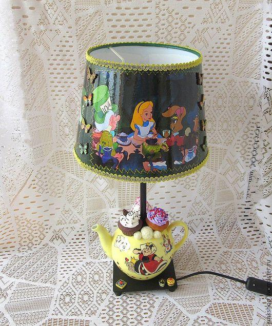 """Освещение ручной работы. Ярмарка Мастеров - ручная работа. Купить Лампа электрическая """"Безумное чаепитие"""". Handmade. Лампа, основание для лампы"""
