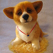 Куклы и игрушки ручной работы. Ярмарка Мастеров - ручная работа войлочная собачка Золотко. Handmade.