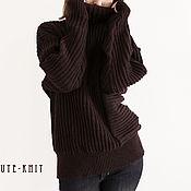 Одежда handmade. Livemaster - original item Knitted sweater for women brown. Handmade.