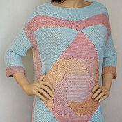 """Одежда ручной работы. Ярмарка Мастеров - ручная работа Пуловер пэчворк """"Граффити"""". Handmade."""