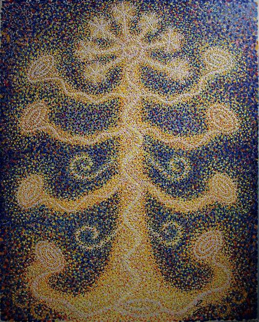"""Абстракция ручной работы. Ярмарка Мастеров - ручная работа. Купить """"Внутренее дерево"""" 2015. Handmade. Живопись маслом, картина, абстракционизм"""
