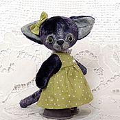 Куклы и игрушки ручной работы. Ярмарка Мастеров - ручная работа Тедди кошка МАРУСЯ. Handmade.