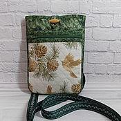 Сумки и аксессуары handmade. Livemaster - original item Textile bag, Belt, Bag-pocket, Shoulder, Delicatessen, Made of fabric. Handmade.